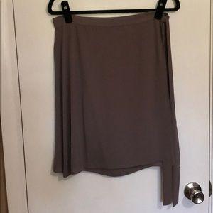 BCBG size L olive wrap skirt